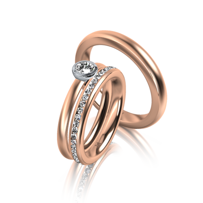 Meister Engagement Ring Triset 0 Engagement Rings Redgold